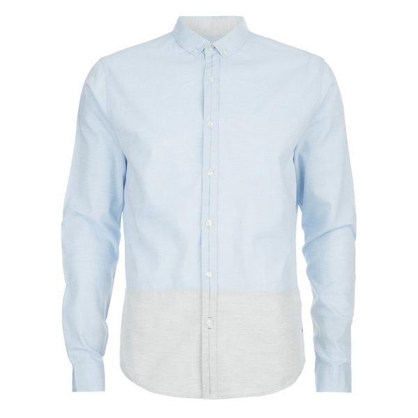 Calvin Klein Men's Ergen Long Sleeve Shirt - Sky Way/Light Grey