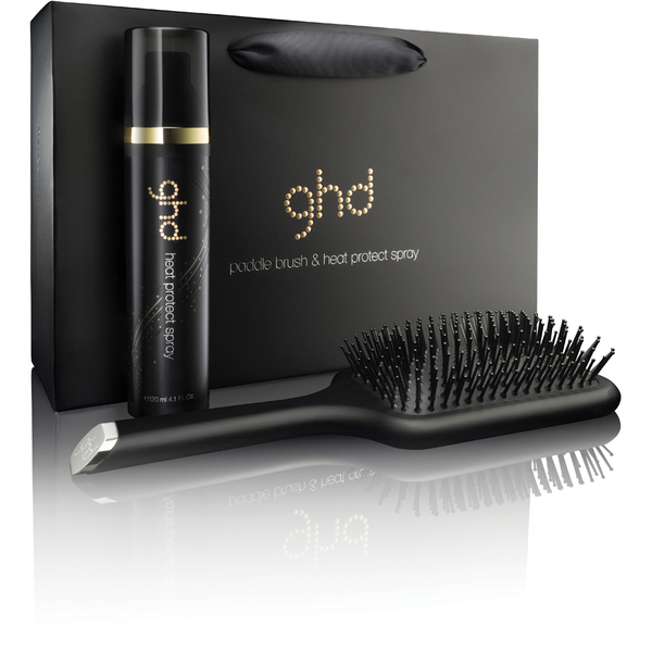 Ghd Heat Protect Spray Amp Paddle Brush Set Free Gift