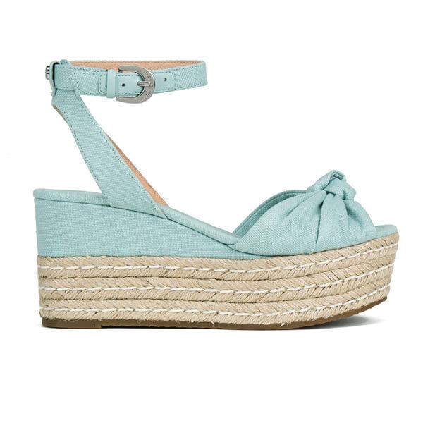 MICHAEL MICHAEL KORS Women's Maxwell Mid Wedge Sandals - Celadon