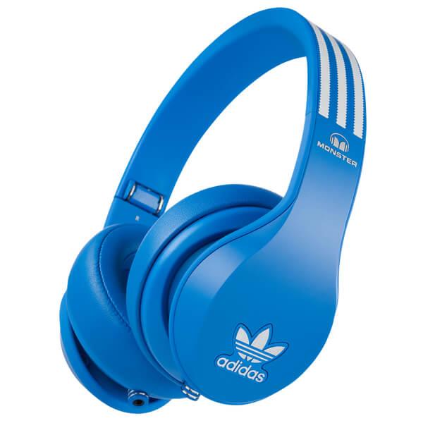 adidas Originals by Monster Headphones (3-Button Control Talk & Passive Noise Cancellation) - Blue