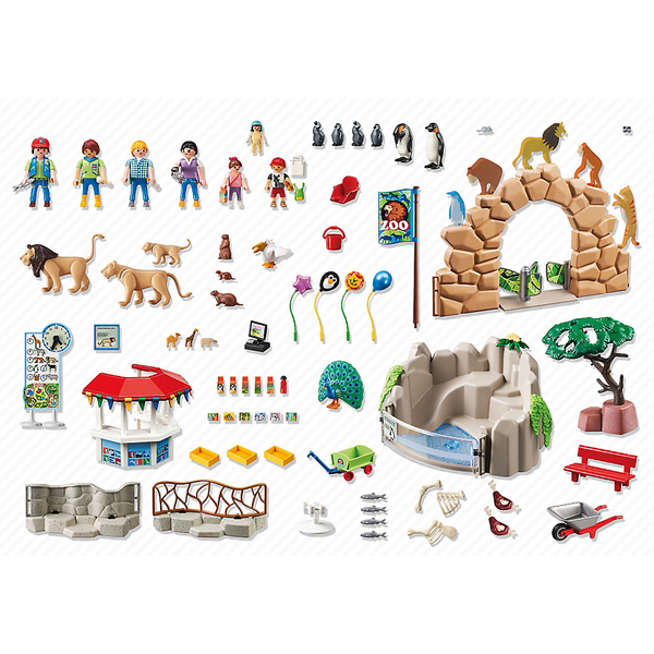 toys animals playsets playmobil city life large zoo
