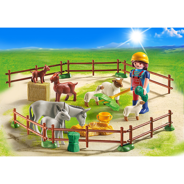 playmobil country farm animal pen 6133 toys. Black Bedroom Furniture Sets. Home Design Ideas