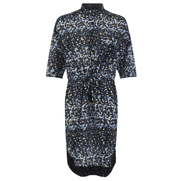 Munthe Women's Ethel Gold Print Tunic Dress - Black