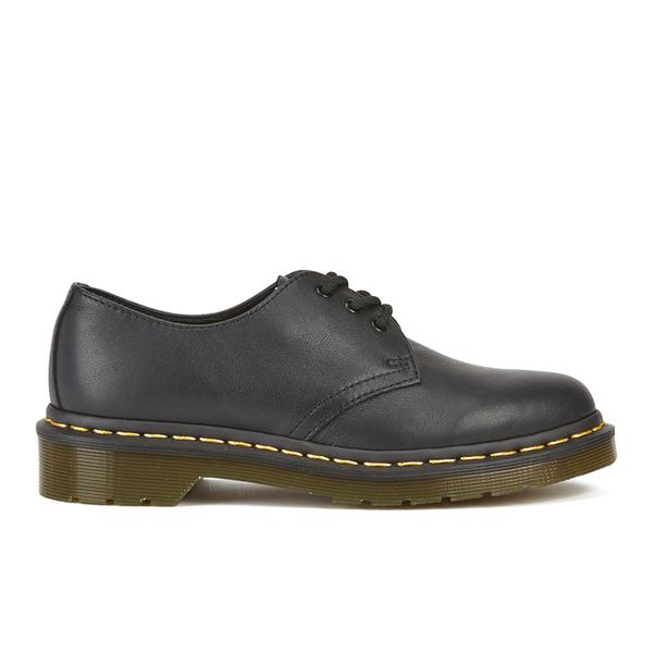 Dr. Martens Women's Core 1461 Virginia Leather 3-Eye Flat Shoes - Black