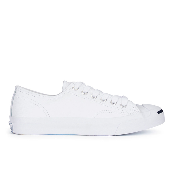 Converse Jack Purcell Unisex Leather Trainers - White/Navy