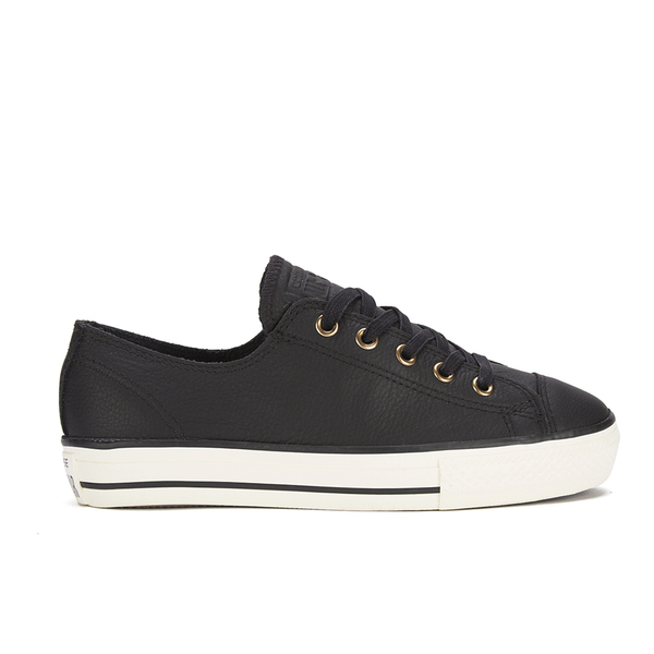 Converse Women's Chuck Taylor All Star High Line Craft Leather Flatform Ox Trainers - Black/White