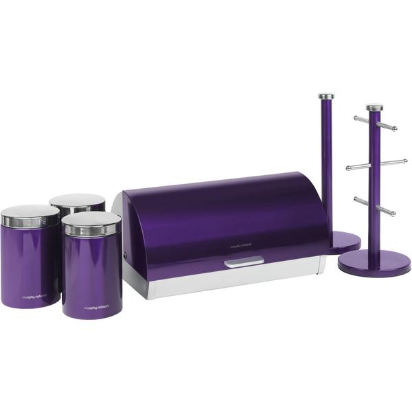 Morphy Richards Towel Pole: Morphy Richards 974102 6 Piece Storage Set - Plum
