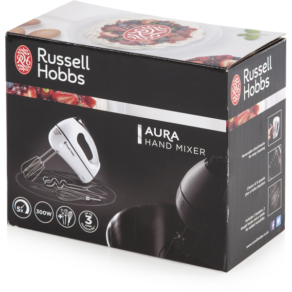 russell hobbs 18965 aura hand mixer stainless steel iwoot. Black Bedroom Furniture Sets. Home Design Ideas