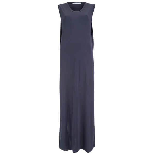 T by Alexander Wang Women's Rayon Matte Jersey Sleeveless Tank Dress - Midnight