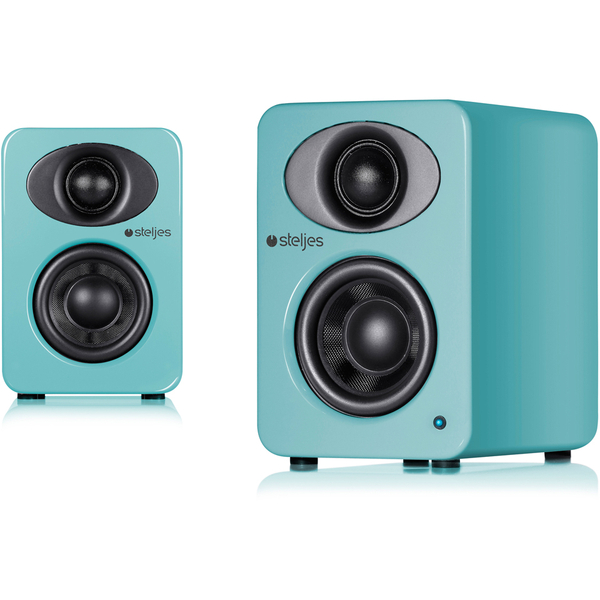Steljes Audio NS1 Bluetooth Duo Speakers - Lagoon Blue
