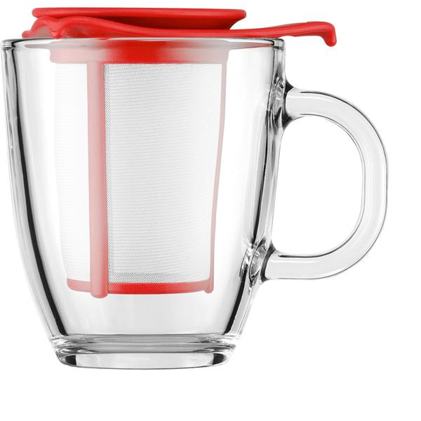 Bodum Yo Yo Set Mug And Tea Infuser - Red