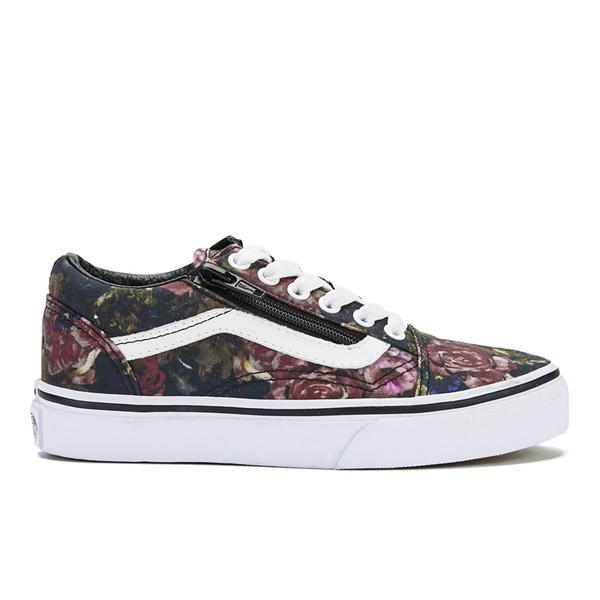 Vans Kids' Old Skool Zip Trainers - Moody Floral/Black/True White