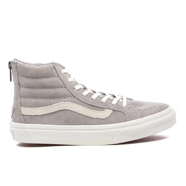 Vans Women's Sk8-Hi Slim Zip Trainers - Cool Grey/Blanc De Blanc
