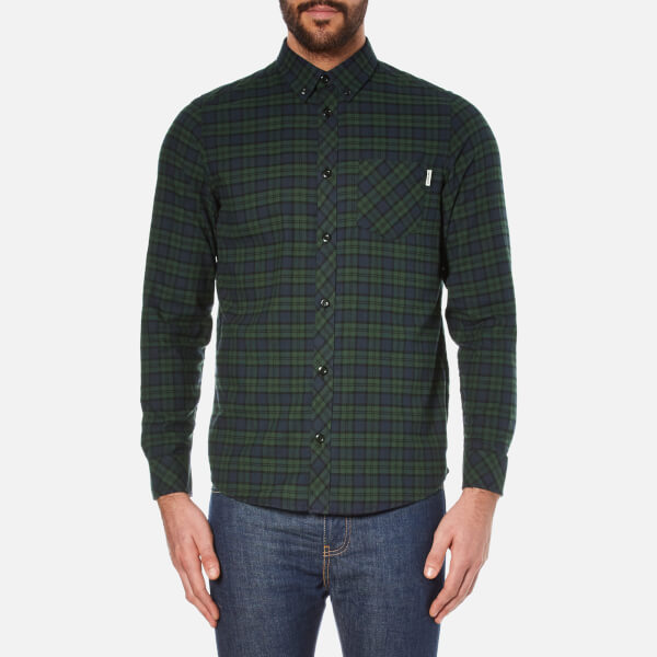 Carhartt Men's Long Sleeve Shawn Shirt - Shawn Check/Conifer Rinsed