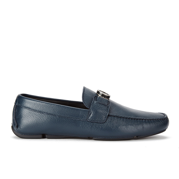 Versace Collection Men's Leather Driving Shoes - Blue