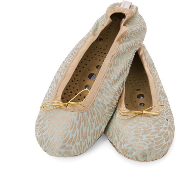 Holistic Silk按摩拖鞋 - 翠绿 - L