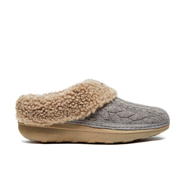 FitFlop Women's Loaff Quilted Slippers - Charcoal