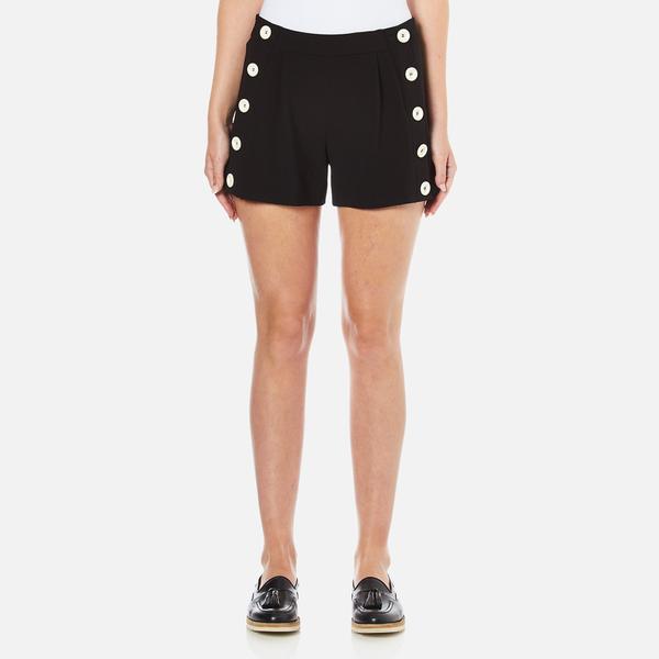 Boutique Moschino Women's Button Shorts - Black
