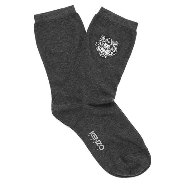 KENZO Women's Tiger Heads Socks - Grey