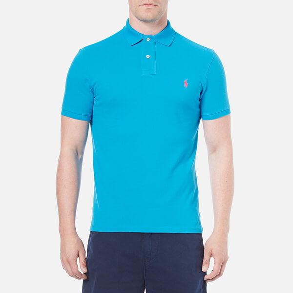 Polo Ralph Lauren Men 39 S Custom Fit Polo Shirt Maui Blue