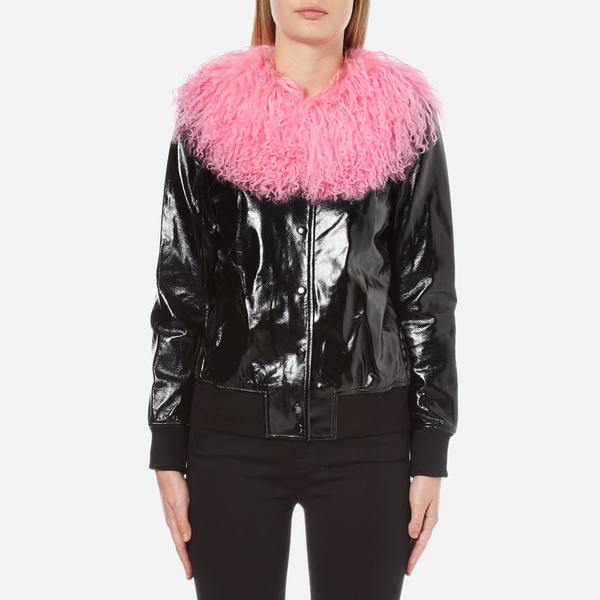 Charlotte Simone Women's Va-Va Varsity Jacket - Black/Pink - S/M