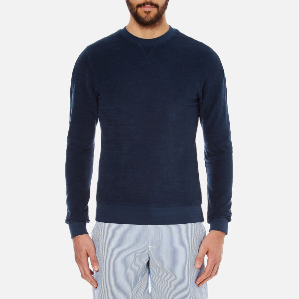 Orlebar Brown Men's Pierce Towelling Sweatshirt - Navy