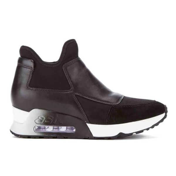 Ash Women's Lazer Sock Slip-On Trainers - Black/Black/Black