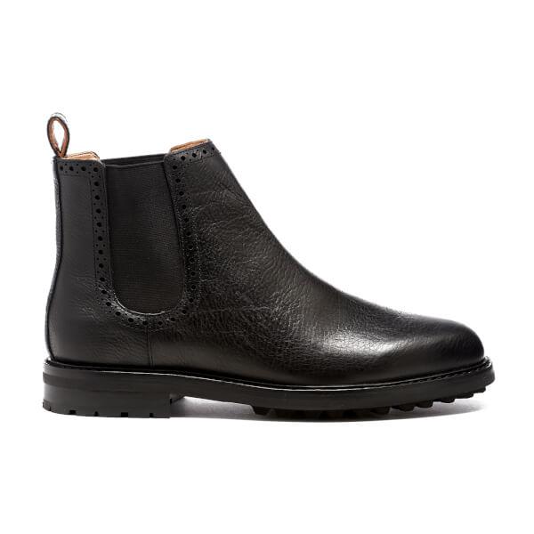 Polo Ralph Lauren Men's Numan Tumbled Leather Chelsea Boots - Black
