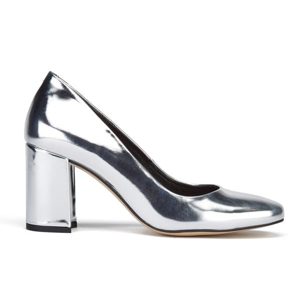 Dune Women's Acapela Metallic Court Shoes - Silver