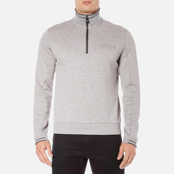 BOSS Green Men's Quarter Zip Sweatshirt - Grey