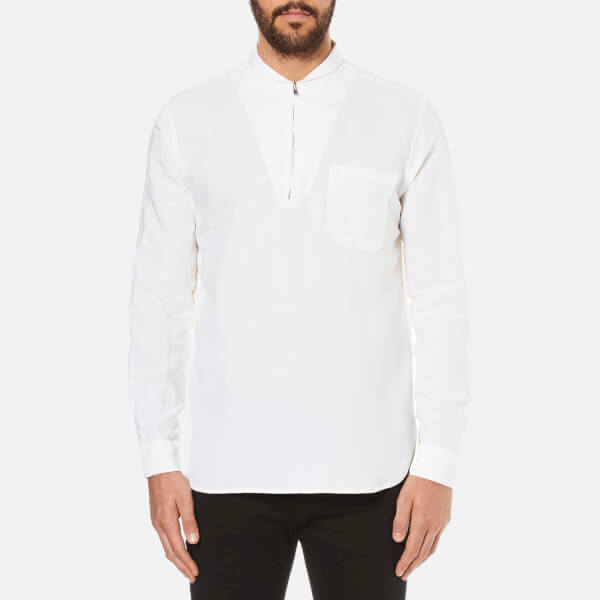 Our Legacy Men's Shawl Zip Shirt - White