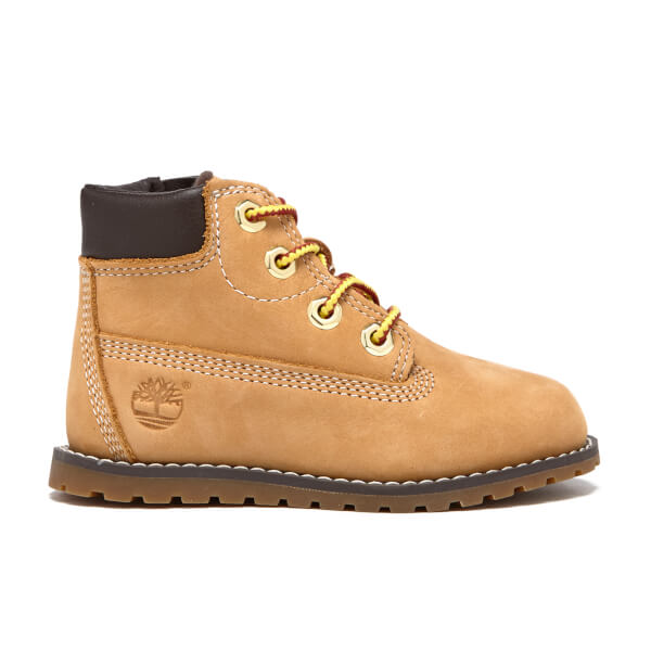 Timberland Toddler's Pokey Pine Size Zip Lace Up Boots - Wheat