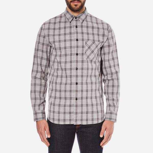 rag & bone Men's Beach Buttoned Shirt - Grey Check
