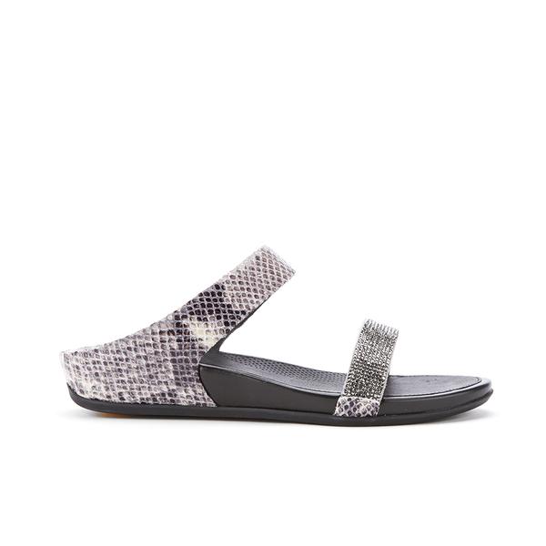 FitFlop Women's Banda Crystal Imi-Snake Slide Sandals - Mink