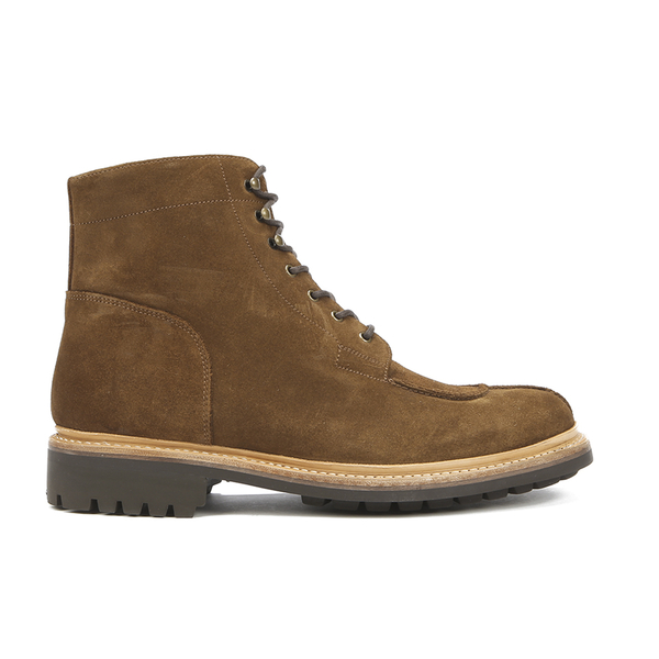Grenson Men's Grover Suede Lace Up Boots - Snuff