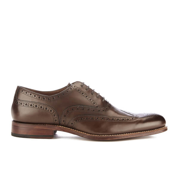 Grenson Men's Dylan Leather Brogues - Burnt Pine