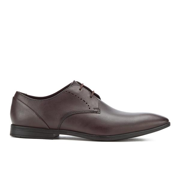 Clarks Men's Bampton Lace Leather Derby Shoes - Walnut