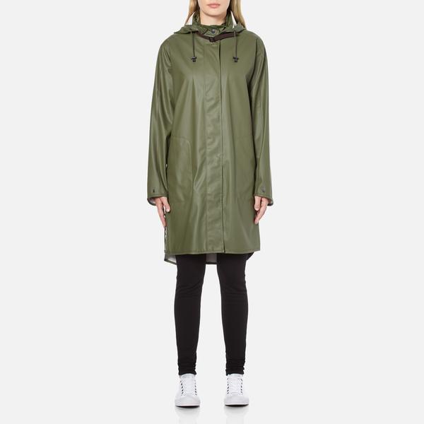 Ilse Jacobsen Women's Light True Rain A Line Coat - Army