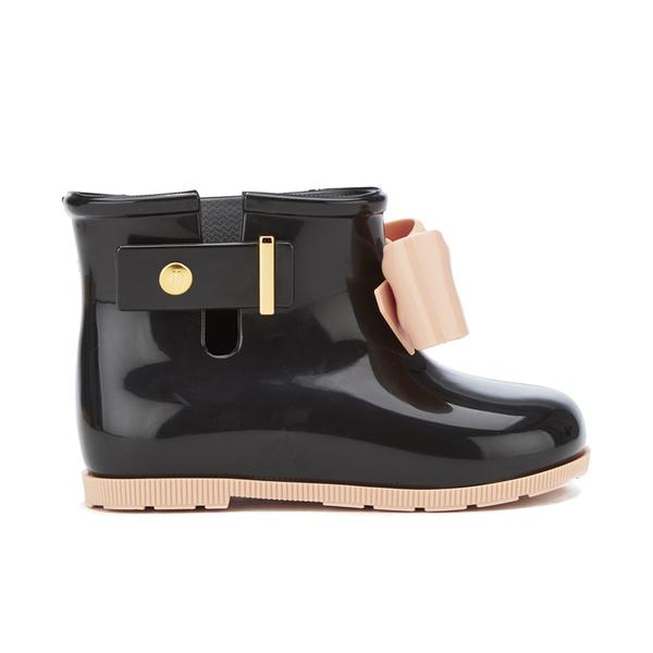 Mini Melissa Toddlers' Sugar Rain Bow Boots - Black Contrast