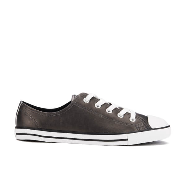 Converse Women's Chuck Taylor All Star Dainty Ox Trainers - Black/Black/White