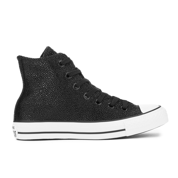 Converse Women's Chuck Taylor All Star Sting Ray Leather Hi-Top Trainers - Black/Black/White