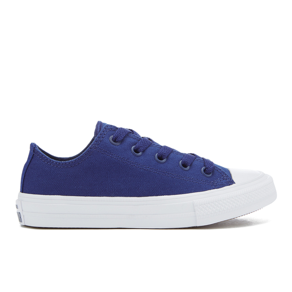Converse Kids Chuck Taylor All Star II Tencel Canvas Ox Trainers - Sodalite Blue/White/Navy