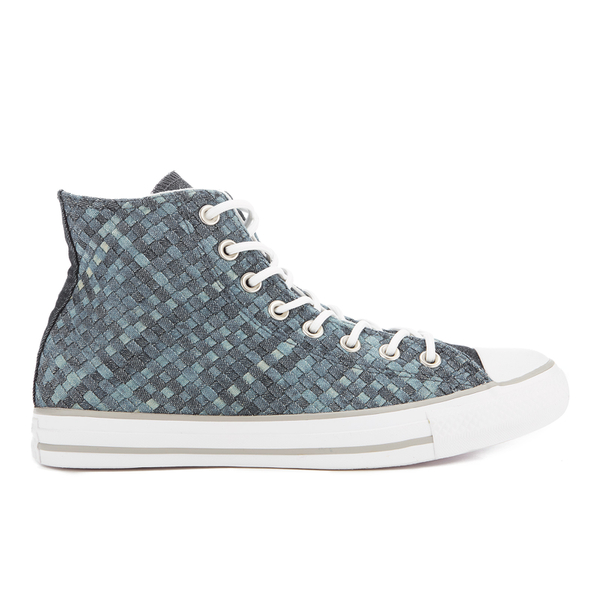 Converse Men's Chuck Taylor All Star Denim Woven Hi-Top Trainers - Polar Blue/White/Dolphin