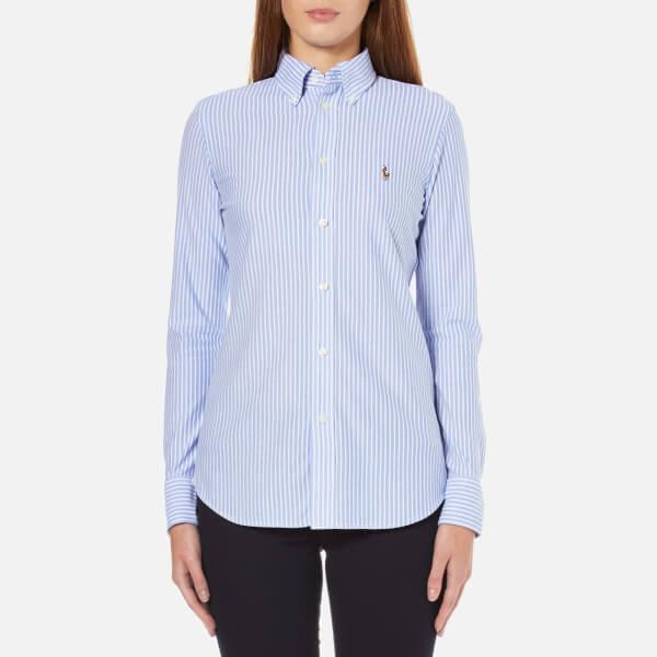 Polo Ralph Lauren Women's Heidi Stripe Shirt - Bermuda Blue/White