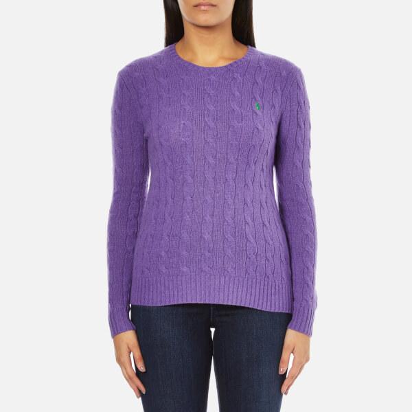 Polo Ralph Lauren Women's Julianna Cashmere Blend Crew Neck Jumper - Spencer Purple