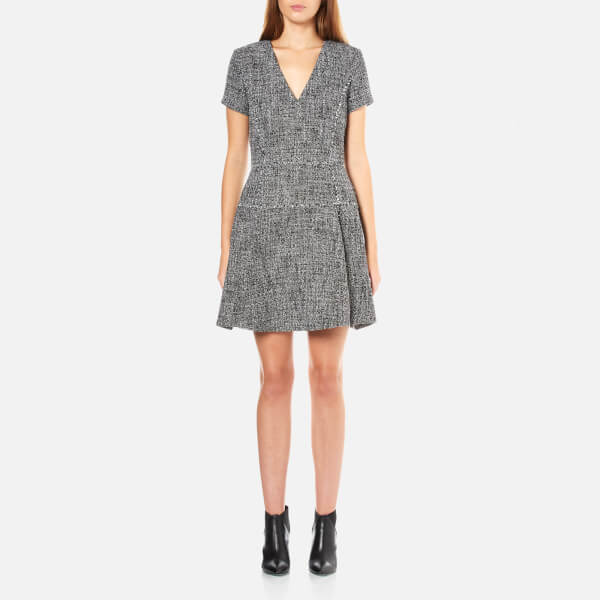 MICHAEL MICHAEL KORS Women's Drape Detail Fray Dress - Black