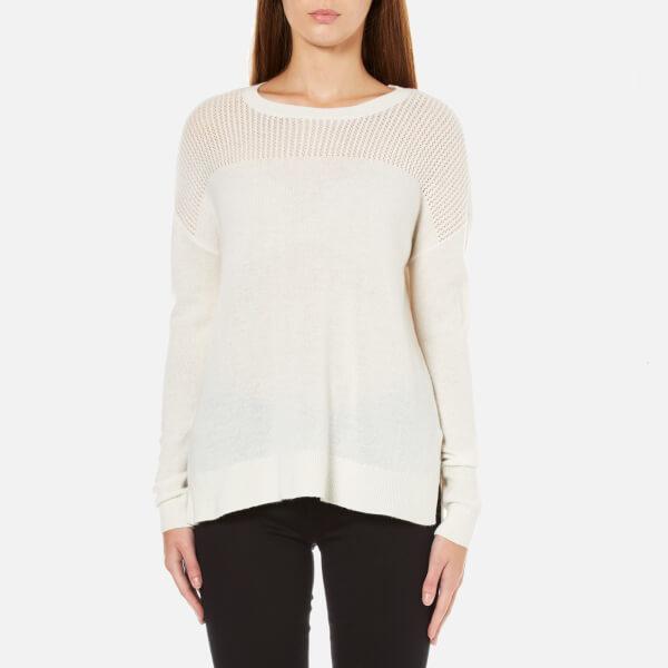 MICHAEL MICHAEL KORS Women's Mesh Yolk Sweater - Cream