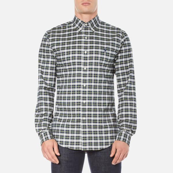 Polo Ralph Lauren Men's Long Sleeve Checked Stretch Oxford Shirt - Green/White