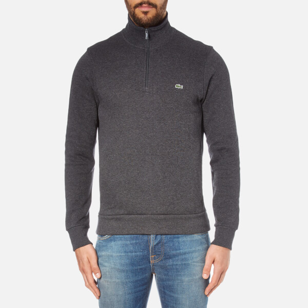 Lacoste Men's Half Zip High Collar Sweatshirt - Dark Grey/Jaspe