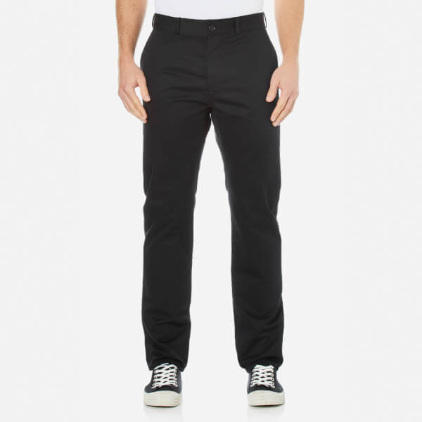 Maison Kitsuné Men's Cotton Jay Chinos - Black